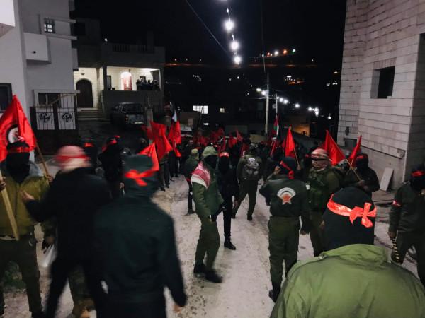 الديمقراطية في عصيرة القبلية تنظم مسيرة ملثمين في ذكرى انطلاقتها 51