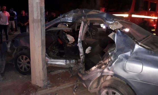 """""""المرور"""": إصابتان خطيرتان في حادث سير بمحافظة خانيونس"""