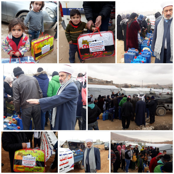 """""""الفلاح"""" توزع المساعدات على اللاجئين في مخيمات البراء وعرسال بلبنان"""