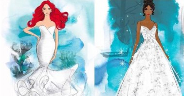 """""""ديزني"""" تطرح فساتين زفاف مستوحاة من أزياء أميراتها"""