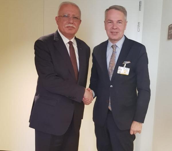 المالكي يلتقي وزير خارجية فنلندا على هامش مجلس حقوق الإنسان في جنيف