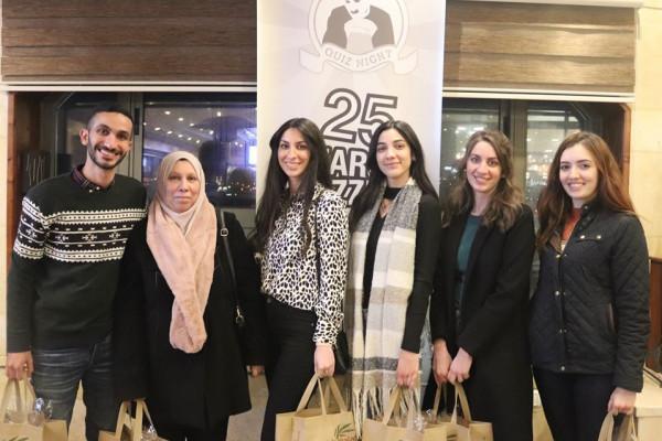 الفلسطينية لإسناد الطلبة ومؤسسة دالية المجتمعية تنظمان مسابقة (Quiz Night)