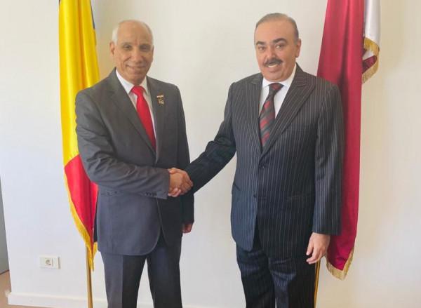السفير القطري برومانيا يستقبل الدكتور محمد عياش