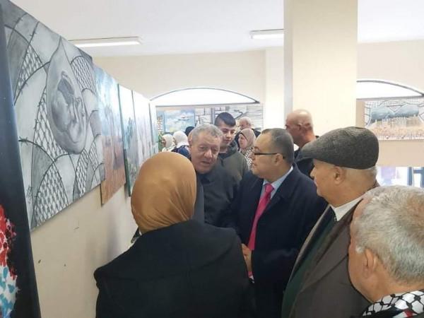 """ابو سيف يفتتح معرض """"وطن وامل"""" للفن التشكيلي في نابلس"""
