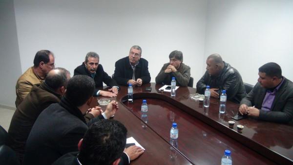 """بالصور: نتائج عملية باجتماع """"مهم"""" بين التربية واتحاد المقاولين بغزة"""