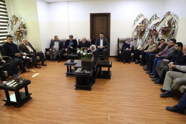 رئيس بلدية جباليا النزلة الجديد ينظم سلسلة اجتماعات لمتابعة سير الأعمال