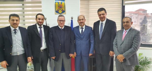 ملتقى رجال الأعمال الفلسطيني يلتقي رئيس ممثلية رومانيا