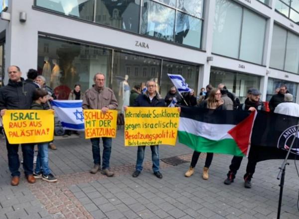 وقفة احتجاجية حاشدة ضد (صفقة القرن) في مدينة بون الألمانية