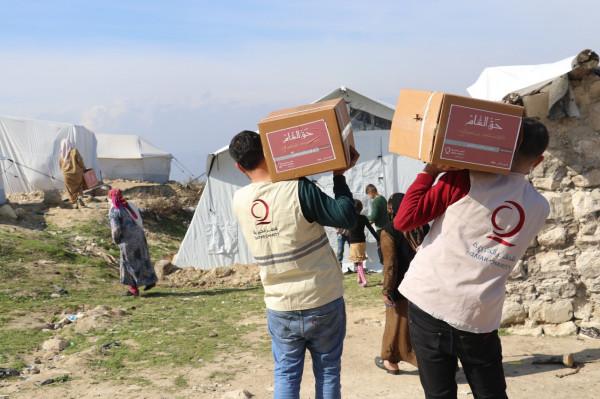 مساعدات شتوية عاجلة من قطر الخيرية للاجئين السوريين في لبنان