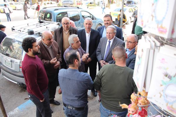 جولة ميدانية لمجلس ادارة غرفة تجارة وصناعة نابلس على اسواق المدينة