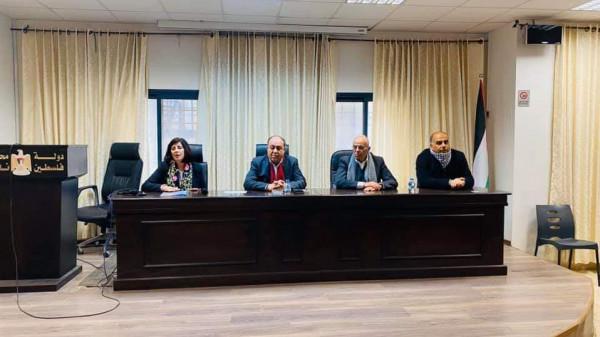 اللجنة الشعبية بمخيم بلاطة تشارك باجتماع خلية ادارة ومواجهة ازمة فيروس كورونا