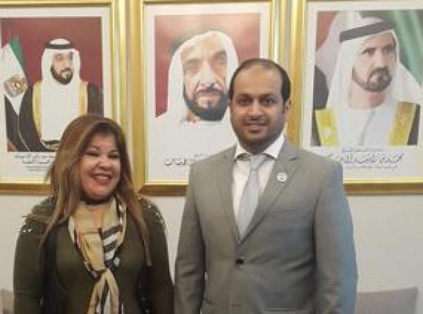 ممثلة مؤسسة الأمان الأهلية بلبنان تلتقي سفير الإمارات في بيروت