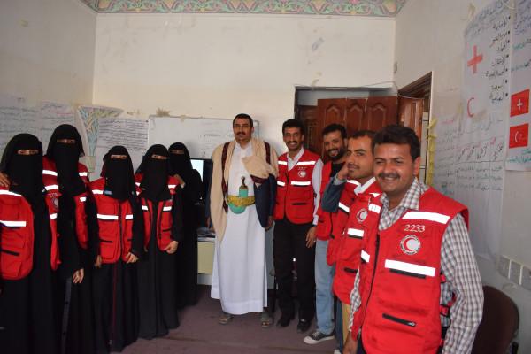 جمعية الهلال الأحمر اليمني فرع صنعاء تختتم الدورة التدريبية الخاصة بالقانون الدولي الإنساني