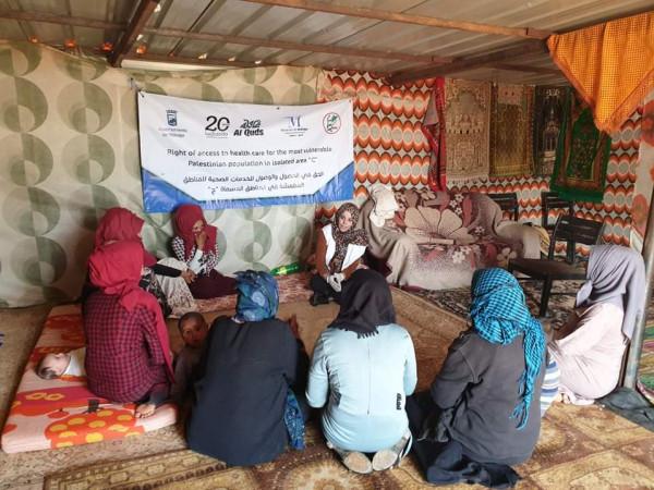 لجان العمل الصحي في طوباس تنفذ أنشطة طبية في مناطق الأغوار
