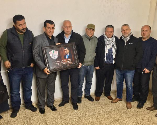 """حركة """"فتح"""" تكرم مدير المخابرات العامة في سلفيت"""