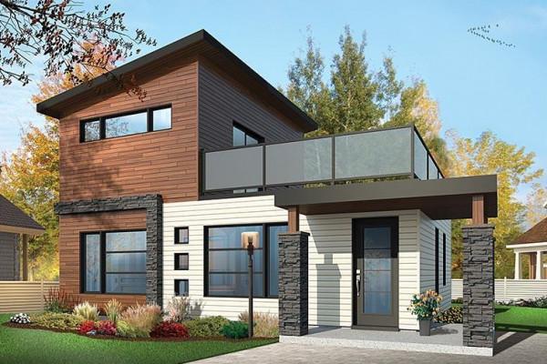 أفكار واجهات خشب للمنازل