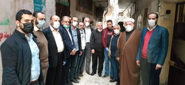 حماس تعقد مؤتمراً صحفياً لإطلاق مشروع دعم أصحاب عربات الخضار بعين الحلوة