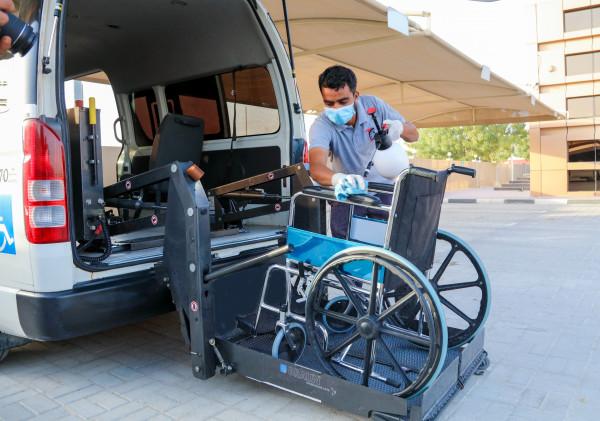 هيئة النقل في عجمان تستمر في اتخاذ التدابير الوقائية للتعقيم