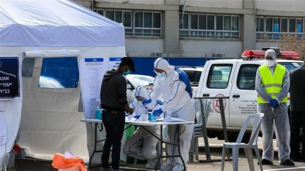 ارتفاع عدد المصابين بفيروس (كورونا) في إسرائيل إلى 2369