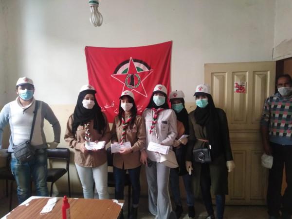 حملة توعية لاشد في مخيم البداوي لمواجه كورونا