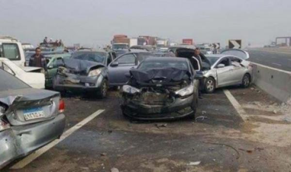 مصرع 18 شخصًا بحادث تصادم بين عدد من السيارات في القاهرة