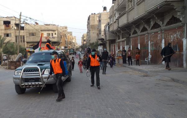 كتائب أبو الريش تنظم حملة تعقيم وتطهيرالمرافق العامة والخاصة بخانيونس