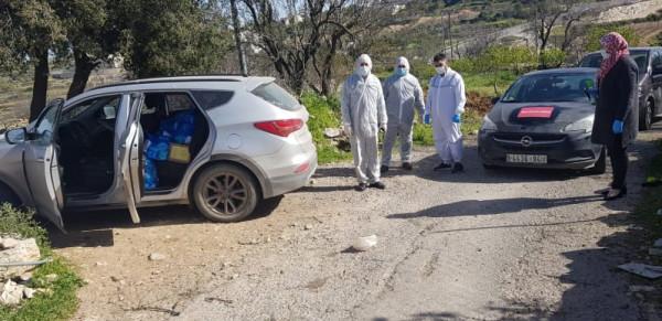 """""""كشن إيد- فلسطين"""" تدعم أهالي منطقة بيت سكاريا بمعقمات ومستلزمات طبية"""