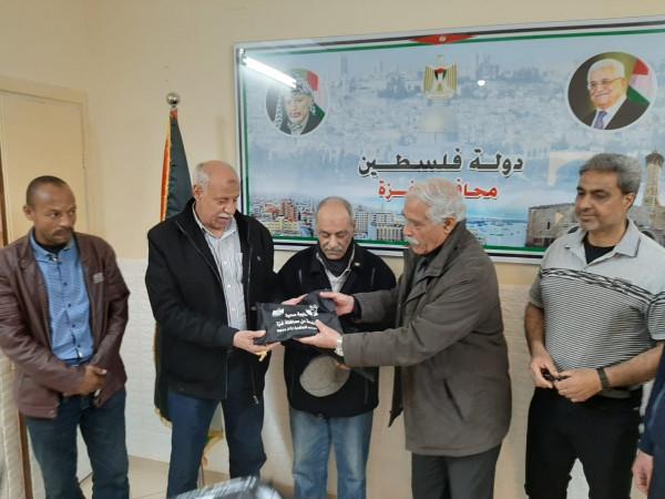 محافظ غزة يلتقي تجمع أبناء اللواء الشهيد زياد الأطرش