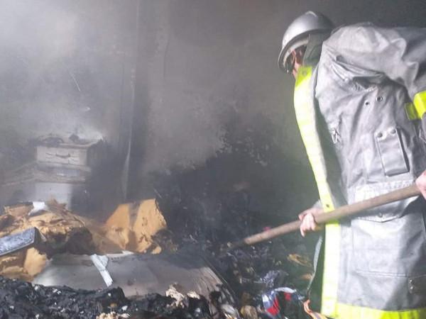 اندلاع حريق في منطقة بني سهيلا جنوب قطاع غزة