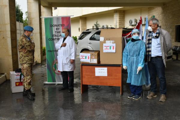 هبة إيطالية لدعم قسم COVID 19 في مستشفى بنت جبيل الحكومي