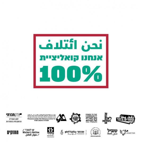 انطلاق ائتلاف 100%: جمعيات مؤسسات لِضمان 100% من الدخل بفترة وباء كورونا