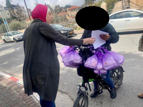 """""""العناية الأهلية"""" في القدس توزع طروداً غذائية للجيل الذهبي والعائلات المحتاجة"""