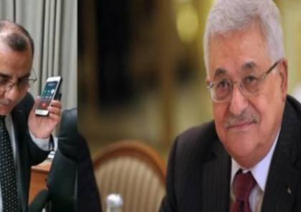 شاهد: الرئيس عباس يُجري اتصالاً هاتفياً بالناطق باسم الحكومة إبراهيم ملحم