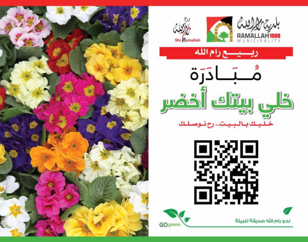 """""""خلي بيتك أخضر"""".. مبادرة لبلدية رام الله ضمن فعاليات ربيع رام الله"""