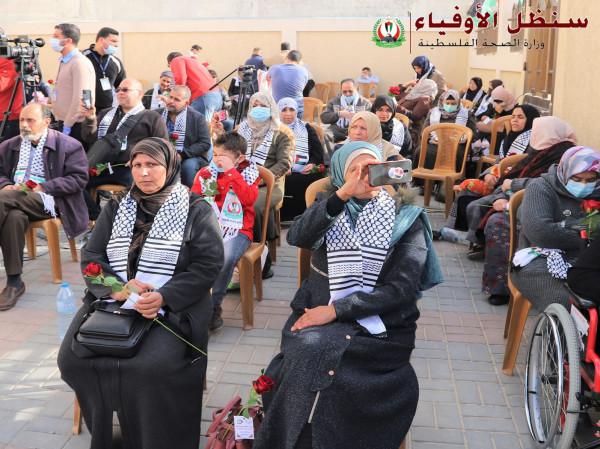 """شاهد: إنهاء الحجر الصحي للمستضافين في مركز """"قيزان النجار"""" بخانيونس"""