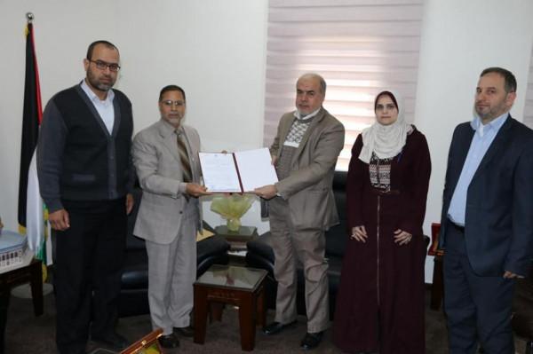 مالية غزة تُوقع اتفاقاً مع جامعة الأزهر لتسديد رسوم الطلبة من المستحقات