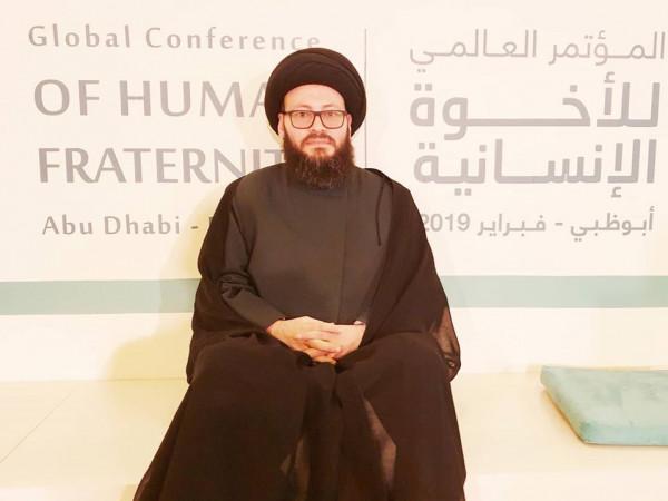 """""""العلامة الحسيني"""": الصلاة الموحدة من أجل الإنسانية خطوة إيمانية مباركة لدفع بلاء كورونا"""