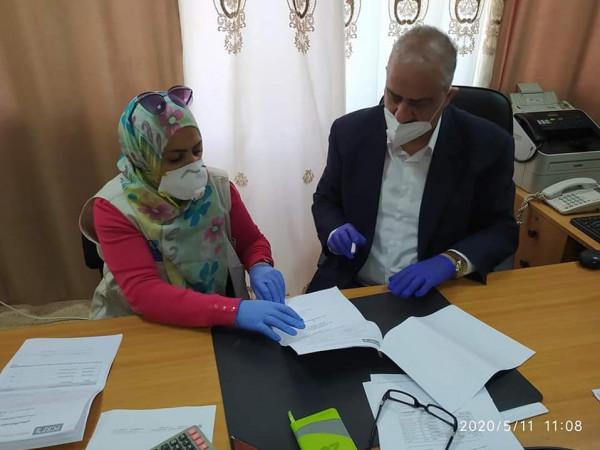 جمعية إغاثة اطفال فلسطين تسلم تنمية سلفيت طرودا صحية للأطفال ذوي الإحتياجات الخاصة
