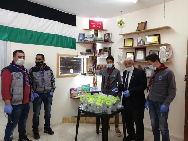 خليل الرحمن الكشفية تنفذ فعاليات رمضانية تحت تغطية فضائية فلسطين الشباب والرياضة