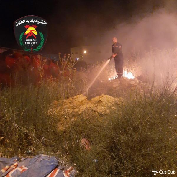 بلدية الخليل تتعامل مع أكثر من 60 حالة حريق وإنقاذ خلال 36 ساعة