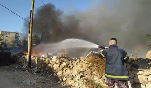 التعامل مع تسعة حرائق في محافظة بيت لحم