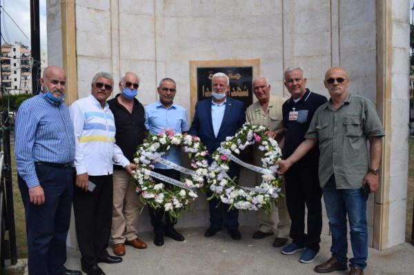 لبنان: قيادة فصائل منظمة التحرير تضع أكاليل الزهور على أضرحة الشهداء بالعيد