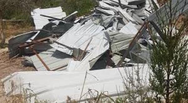 الاحتلال يهدم منشأة سياحية قيد الإنشاء في سبسطية شمال نابلس