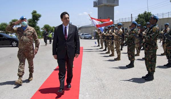 رئيس مجلس الوزراء حسان دياب يزور اليونيفيل