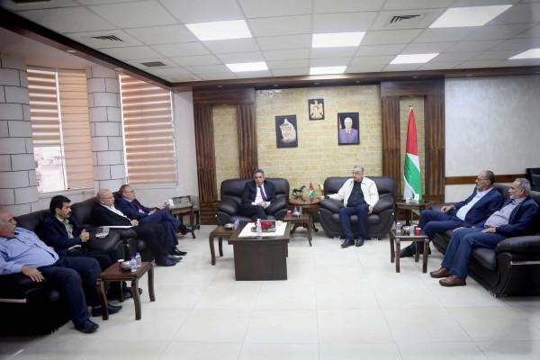 محافظ طولكرم  يستقبل وكيل وزارة الحكم المحلي