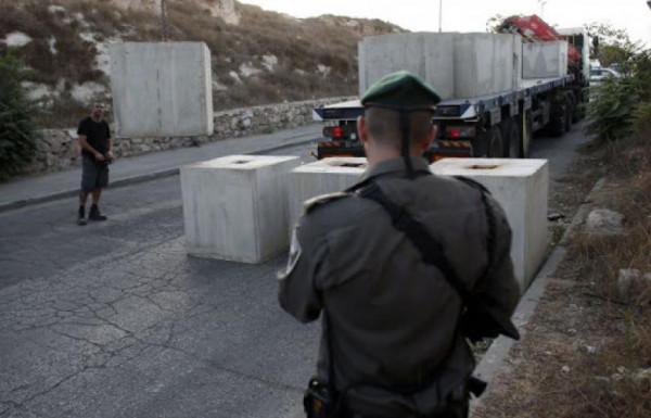 الاحتلال يوقف العمل بإعادة تأهيل شارع جنوب بيت لحم