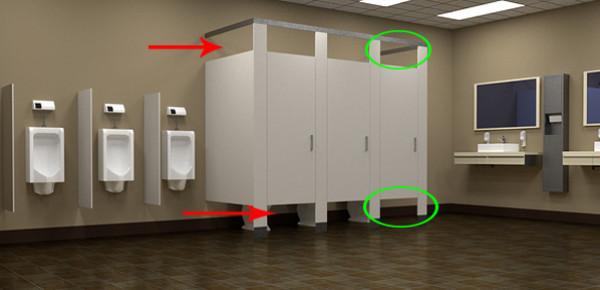 ستة أسباب وراء تفضيل استخدام الأبواب القصيرة للمراحيض العامة