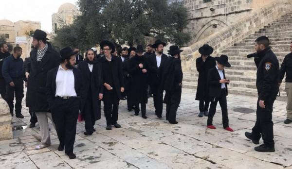 عشرات المستوطنين يقتحمون المسجد الأقصى في الفترة المسائية