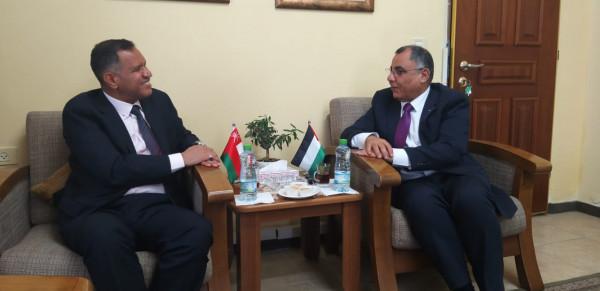 سفير عُمان في فلسطين يؤكد موقف بلاده الثابت من القضية الفلسطينية
