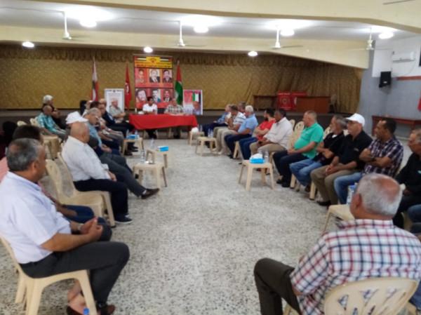 لقاء سياسي في مخيم البص بمناسبة يوم شهيد الجبهة الديمقراطية